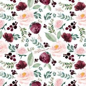 """4"""" Wild at Heart Florals / White"""