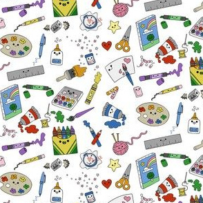 Crafts Doodles on White