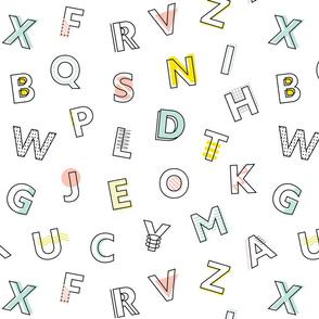 Memphis Alphabet