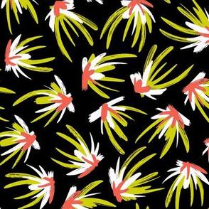 Feather Flourish - Neon & Carmine