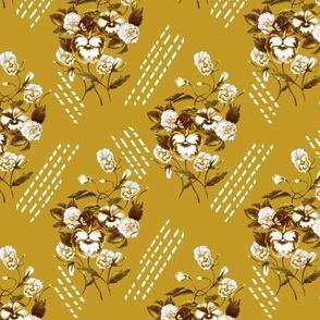 Pansy Retro Golden Mustard