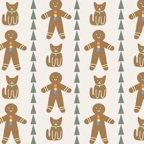 gingerbread friends in cream