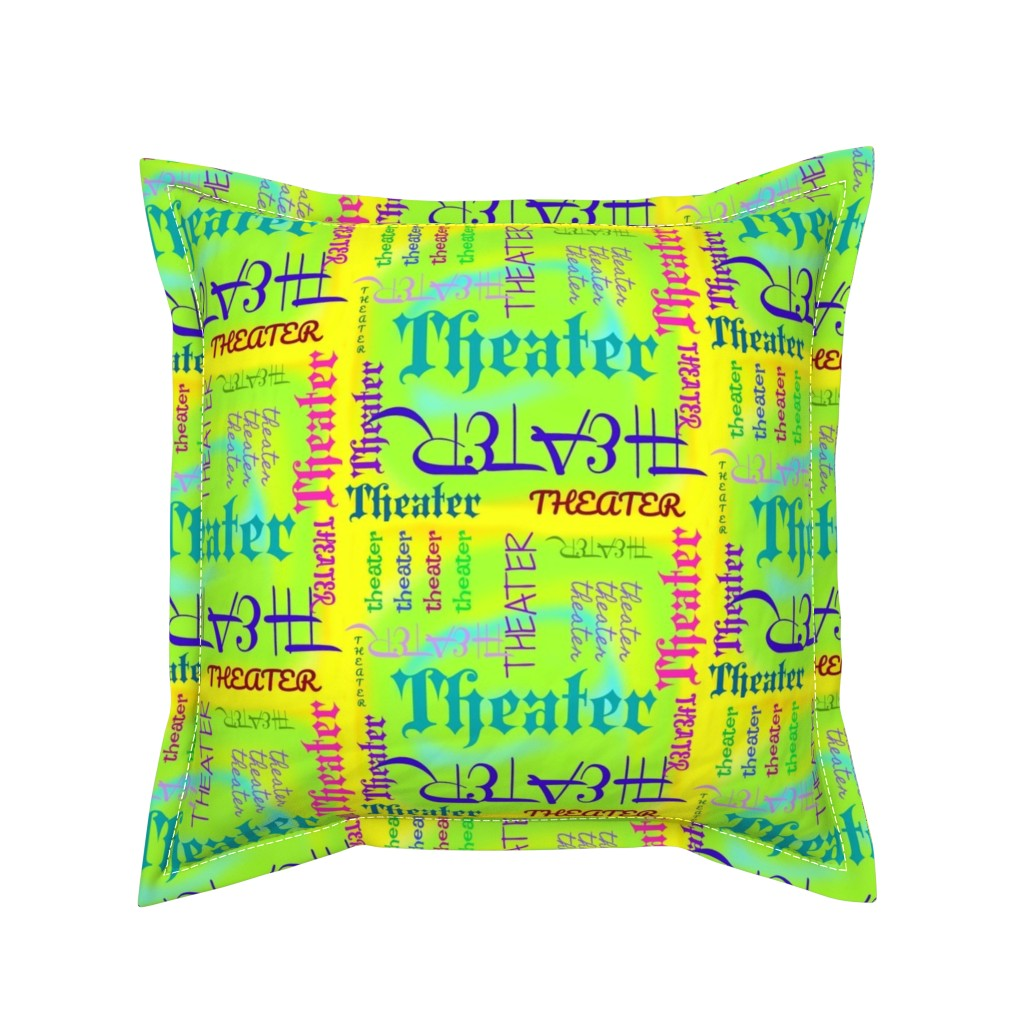 Serama Throw Pillow featuring I Love Theater! by robin_rice