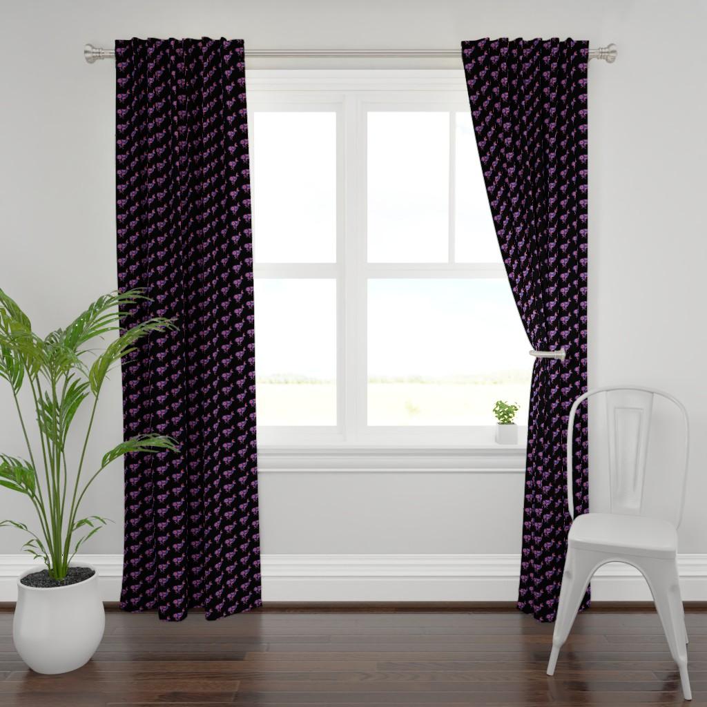 Plymouth Curtain Panel featuring Phish Antelope Medium Black by tetonbadger