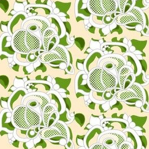Gypsy rose lace in green