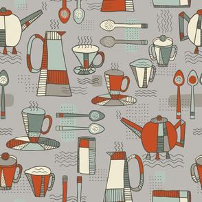 Coffee, Memphis Style - Light Mushroom