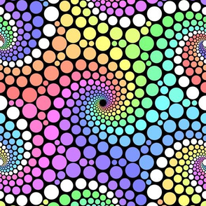 06721928 : pointillist 6-armed rainbow starfish
