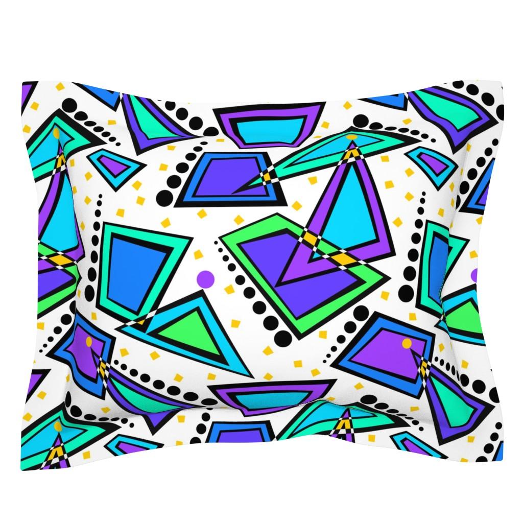 Sebright Pillow Sham featuring City Lights Memphis Style by theartofvikki