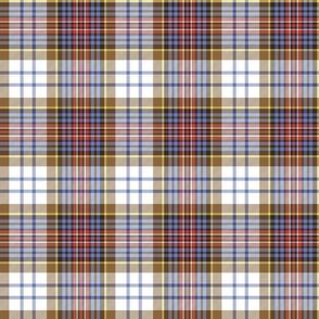 """MacInnes ancient or MacPherson dress red tartan, 6"""" faded"""