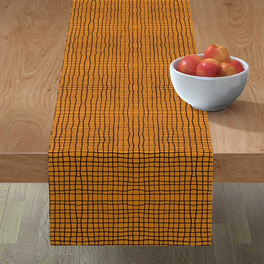 Minorca Table Runner featuring Cadrillage_Ocre by mountainofdreams