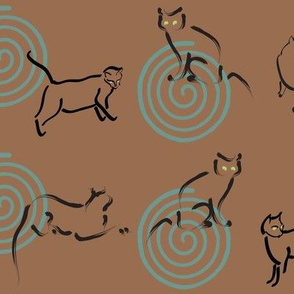 Cats-&-spirals-fabric-DENSE-copper25