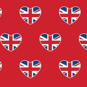 British Hearts - Union Jack Red