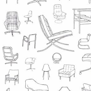 Mid-Century Chairs / Designer Retro Furniture