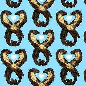 Cute Romantic Otters