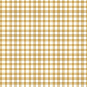 Mini Golden Gingham Plaid