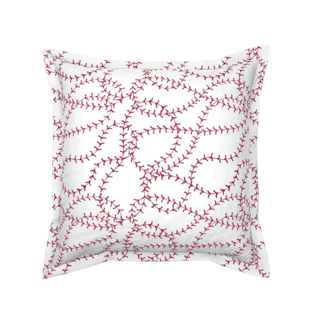 Serama Throw Pillow featuring Baseball Seams - Small by c_manning