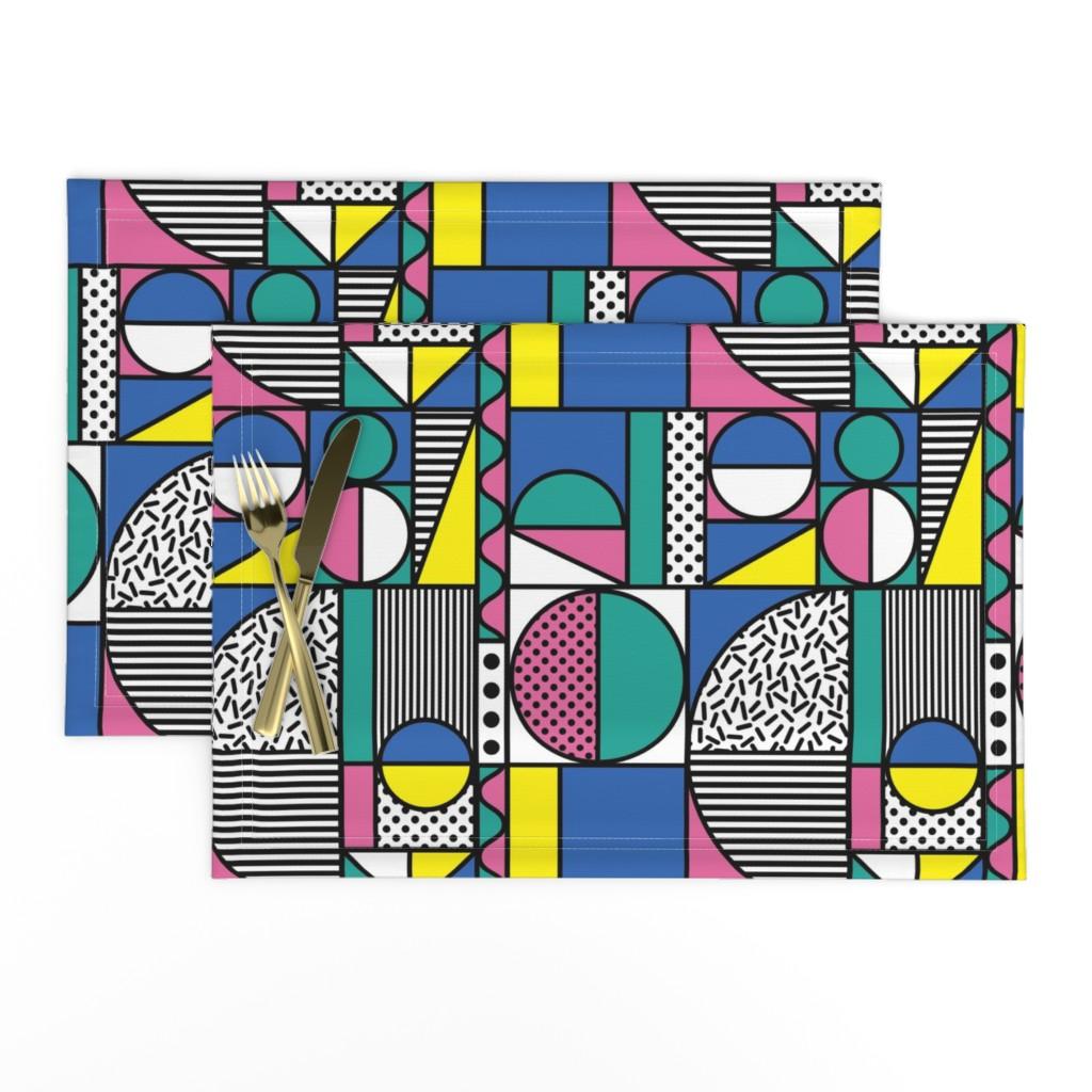 Lamona Cloth Placemats featuring memphis1981-01 by mumbojumbo