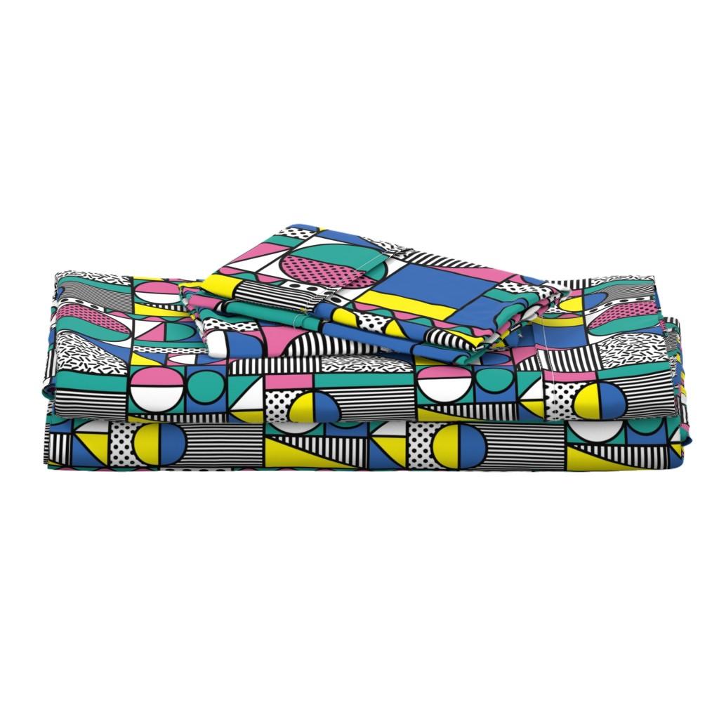 Langshan Full Bed Set featuring memphis1981-01 by mumbojumbo