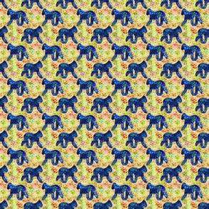 Cosmic Trotting Bedlington Terrier - day