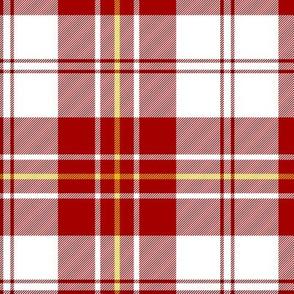 """MacPherson dress tartan, 6"""" red"""