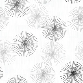 Dandelions Grayscale by Friztin