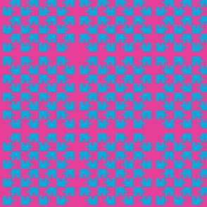 Puzzle Piece Block Grid Magenta Blue