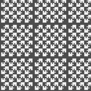 Puzzle Piece Block Grid Charcoal Gray