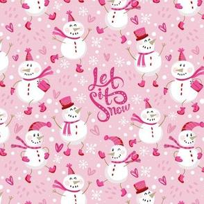 Festive Snowmen-Pink