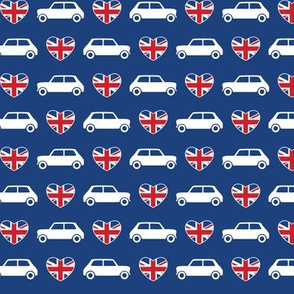 Mini Cooper Hearts - Union Jack Blue - Small