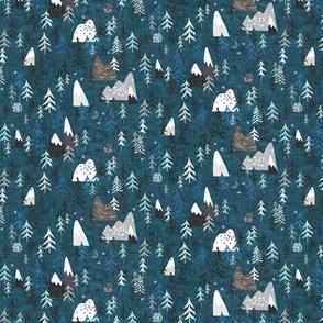 Forest Peaks (MICRO) (midnight blue)