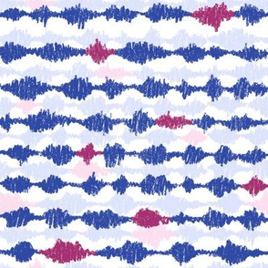 Scribble Stripes - Blue