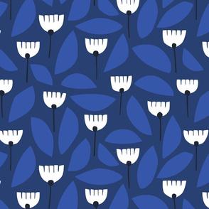 Scandi florals in blue