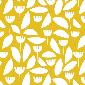 Scandi florals in yellow