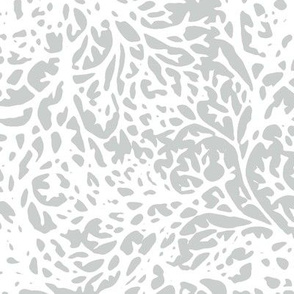 White Branches on Grey