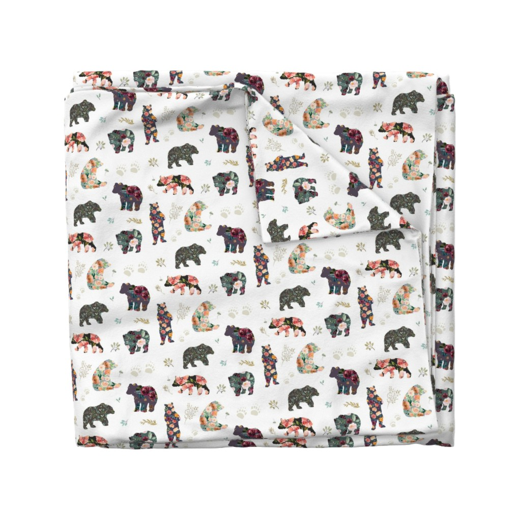 "Wyandotte Duvet Cover featuring 8"" PATCHWORK BEARS / FLORAL by shopcabin"