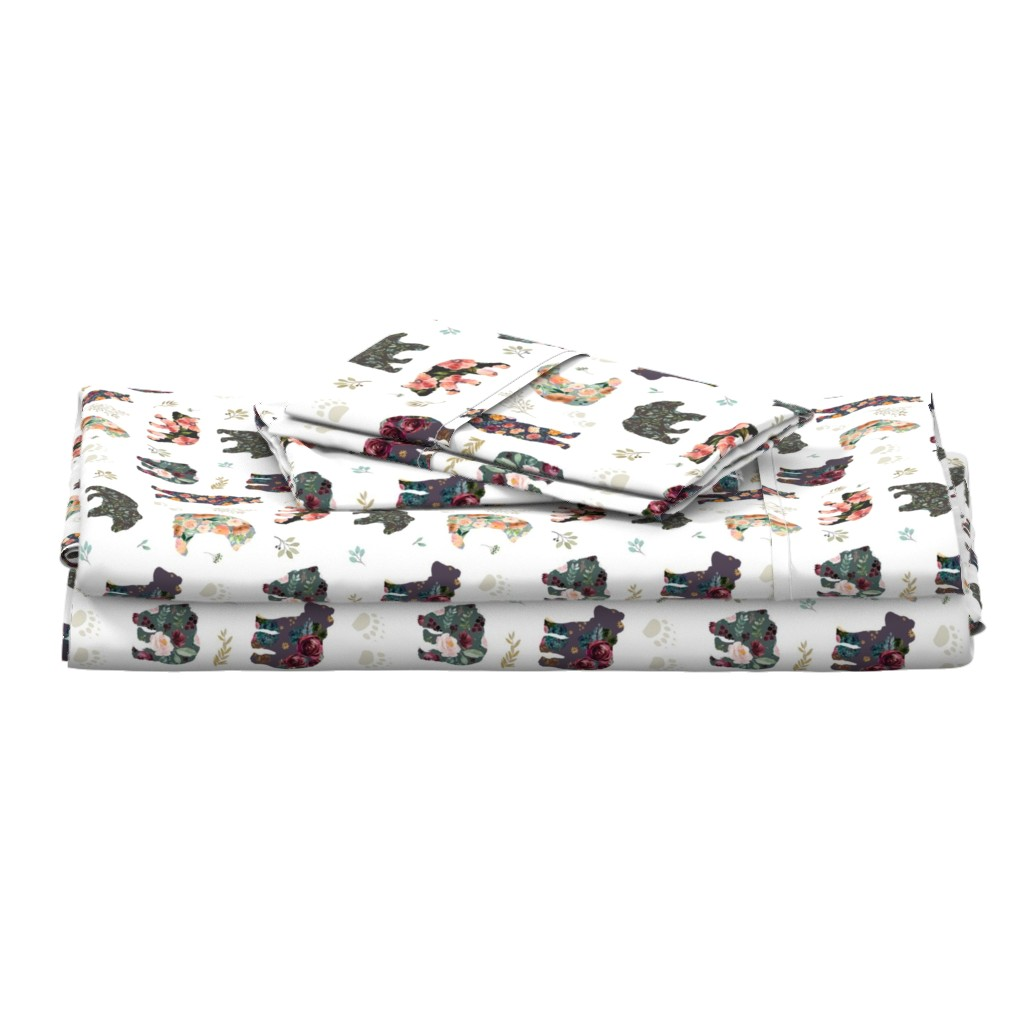 """Langshan Full Bed Set featuring 8"""" PATCHWORK BEARS / FLORAL by shopcabin"""