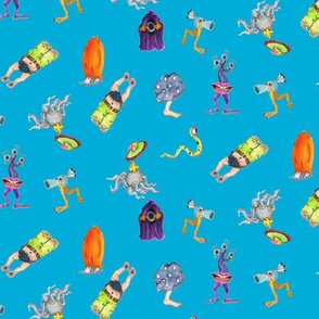 monsters_on_blue_pattern_