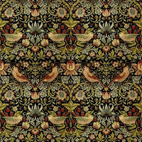 William Morris ~ Strawberry Thief ~ Intense ~ Wee