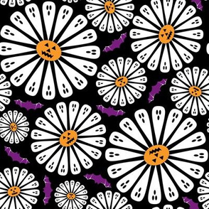 Halloween Floral Black
