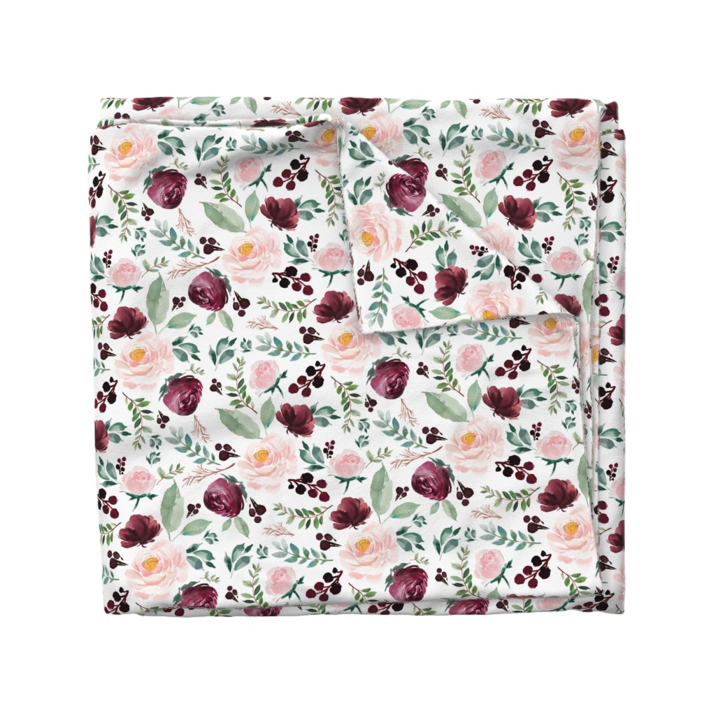 "Wyandotte Duvet Cover featuring 12"" Wild at Heart Florals / White by shopcabin"