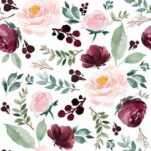 """12"""" Wild at Heart Florals / White"""