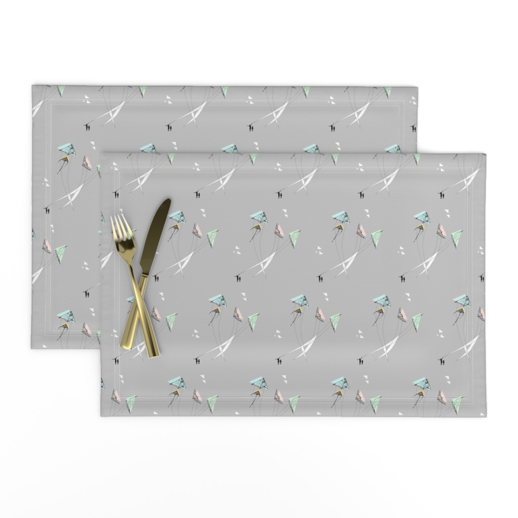 Lamona Cloth Placemats featuring Quiet Kite Motion by elliegooddesign