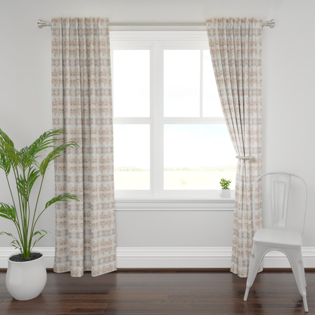 Plymouth Curtain Panel featuring Feathers 27142 | MichelleMathis by michellemathis