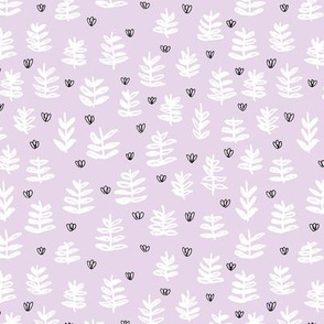 Pop culture series green home garden plants leaves illustration print design violet lavender SMALL