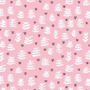 Pop culture series green home garden plants leaves illustration print design pink girls SMALL