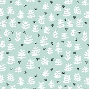 Pop culture series green home garden plants leaves illustration print design mint SMALL