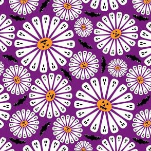 Halloween Floral Purple Small