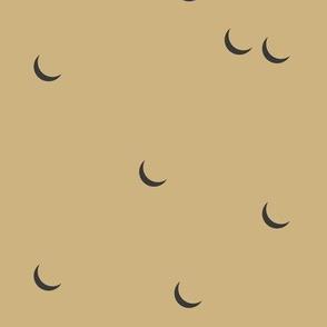Moon - sand yellow mustard half moon night