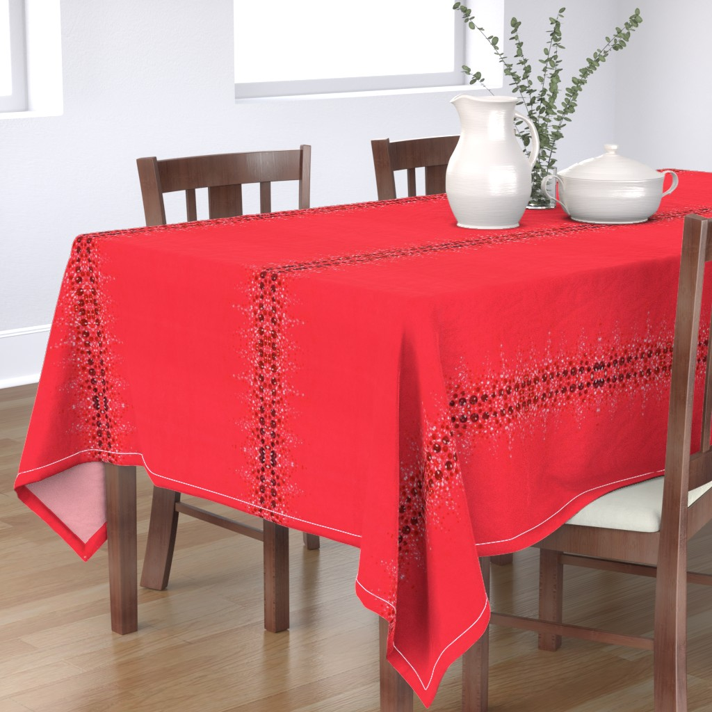 Bantam Rectangular Tablecloth featuring Lapland Red Vertical by hot_office