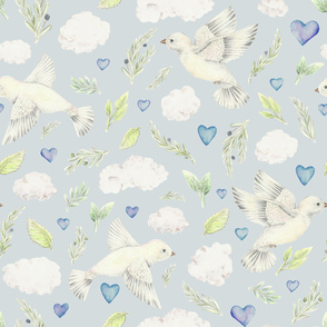 Dove and Olive Pattern
